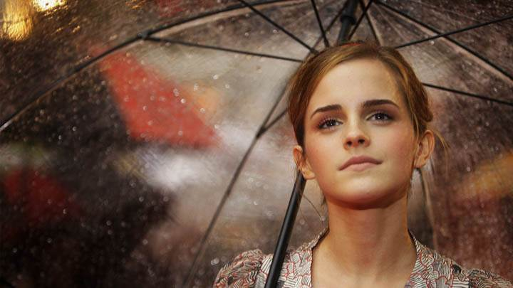 Emma Watson With Umbrella