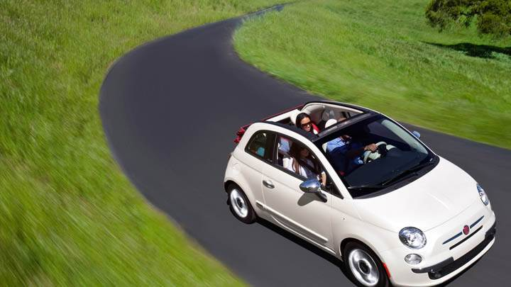 Fiat 500 Cabrio 2012 White Color