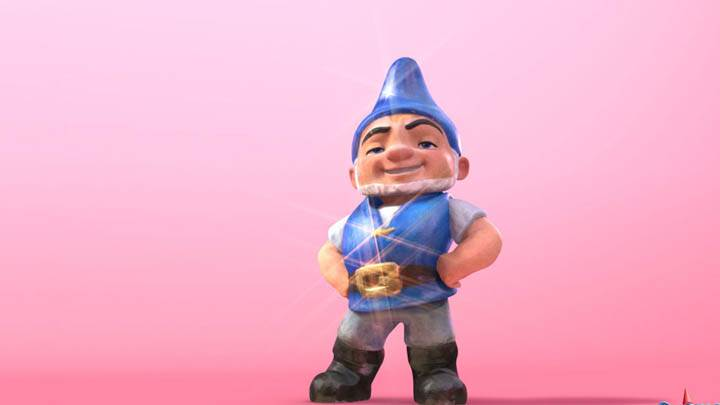 Gnomeo & Juliet Pink Background