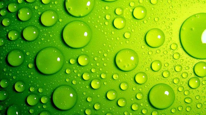 Green Bubbles Awesome Background