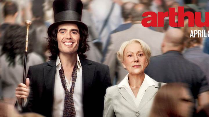 Helen Mirren and Russell Brand in Arthur