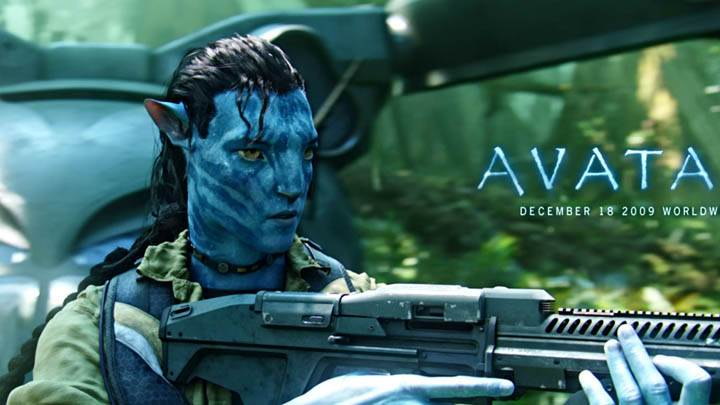 Jake Sully With Gun in Movie Avatar