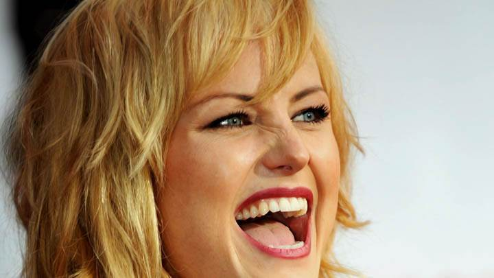 Malin Akerman Laughing Face Closeup