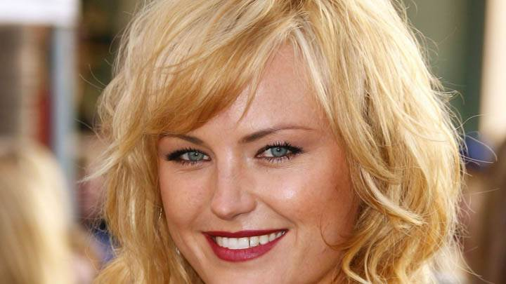 Malin Akerman Ultra Face Closeup Smile Red Lips