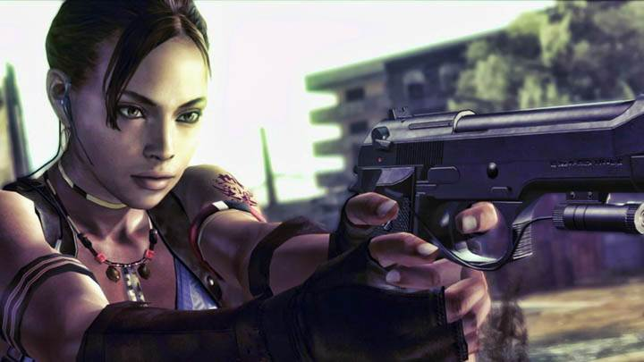 Sheva Aiming at Zombie