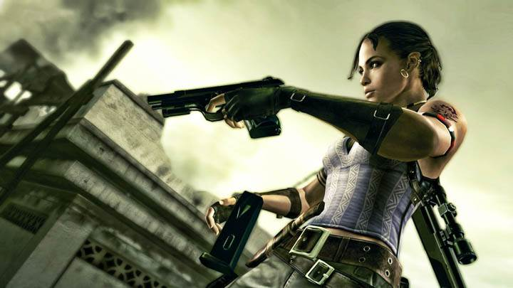 Sheva Reloading the Pistol in Resident Evil 5
