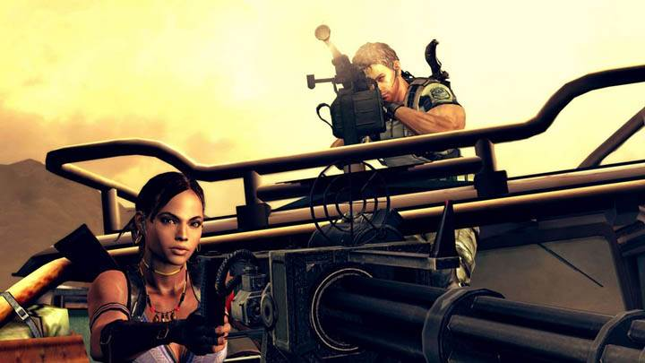 Sheva with Gettling Gun