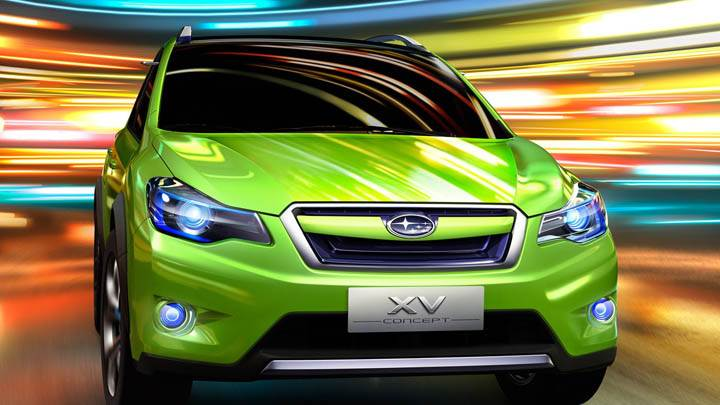 Subaru XV Concept Green Color Front Face