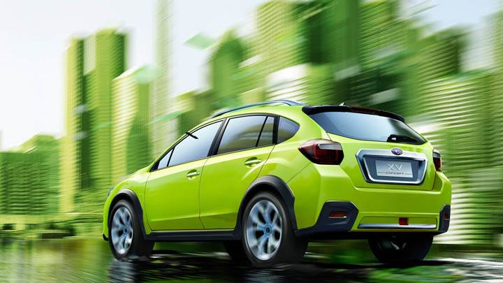 Subaru XV Concept  Running on City Strret