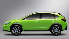 Subaru XV Concept Side View Green Color