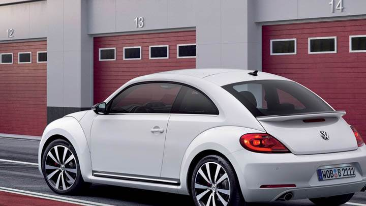 Volkswagen Beetle 2012 Parked Outside Home