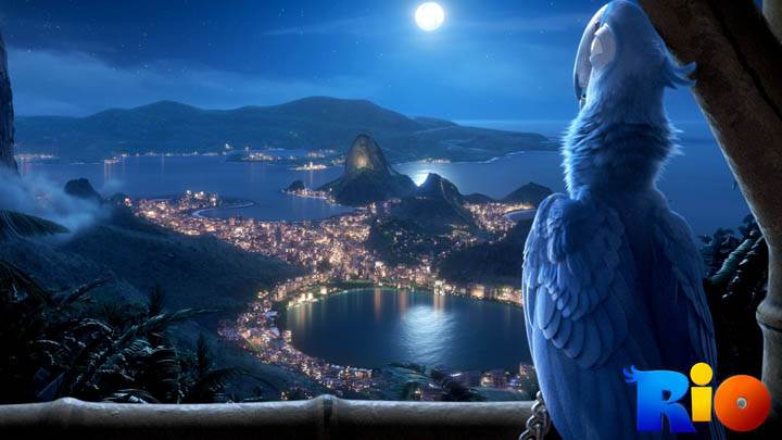 Watching Moon in Night in Rio Movie