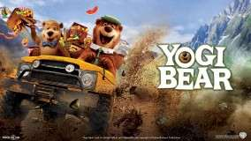 Yogi Bear Riding on a Jeep
