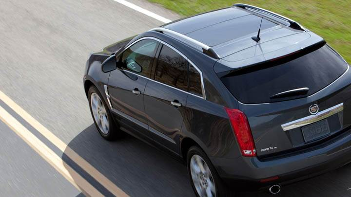 2011 Cadillac SRX Black Color Back Pose