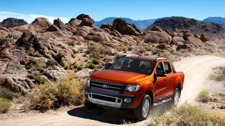 2011 Ford Ranger Orange Wildtrak Front Picture