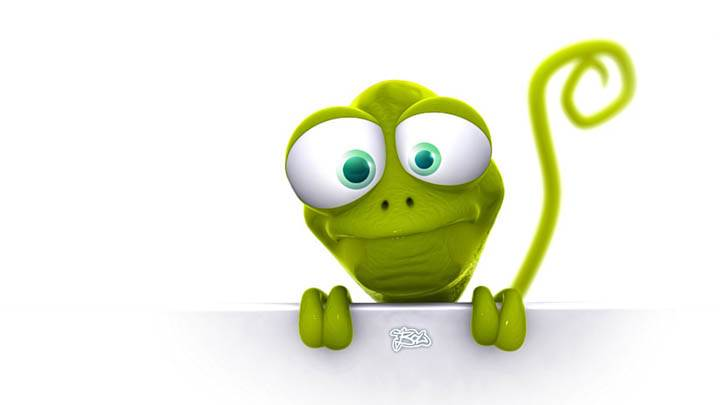 3D Character with big eyes