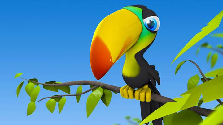 3D Colorfull Bird