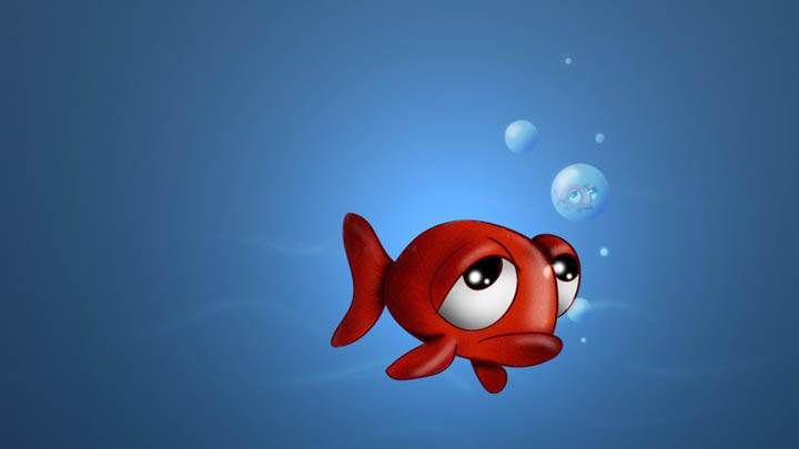 3D Fish in Sad Mood