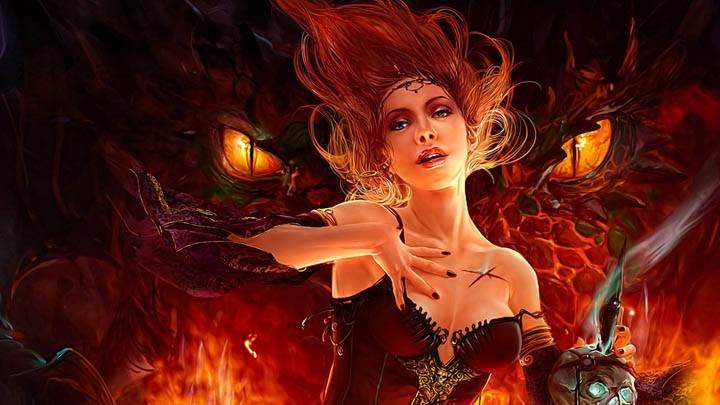 3D Girl Character in Hell