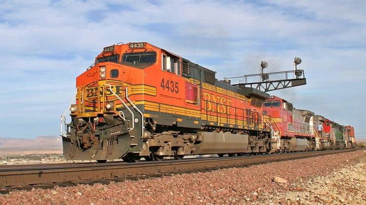 A Westbound BNSF Train, Needles, CA