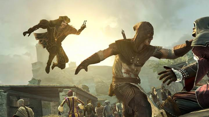 Assassins Creed Brotherhood Jump In Air