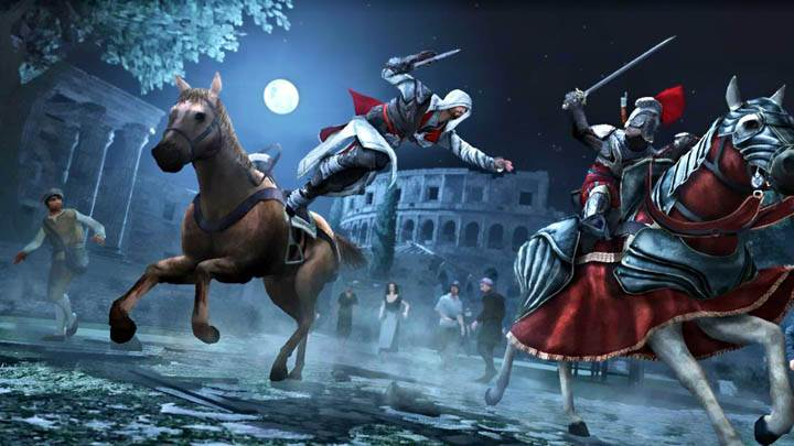 Assassins Creed Brotherhood Jumping From A Hourse