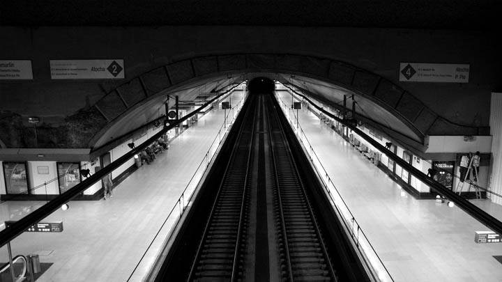Black N White Subway View