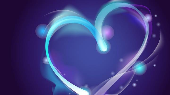 Blue Line Abstract Heart