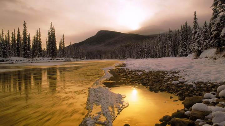 Bow River Rocky Mountains Canada