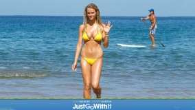 Brooklyn Decker in Yellow Bikini in Just Go With It