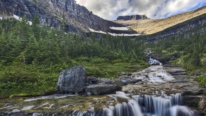 Cascading Waterfall, Glacier National Park, Montana