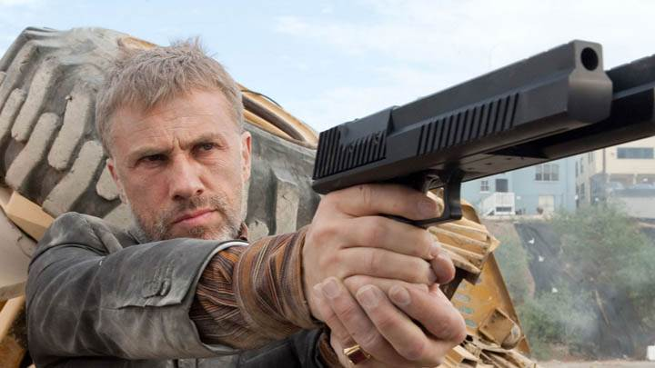Christoph Waltz With Gun in The Green Hornet