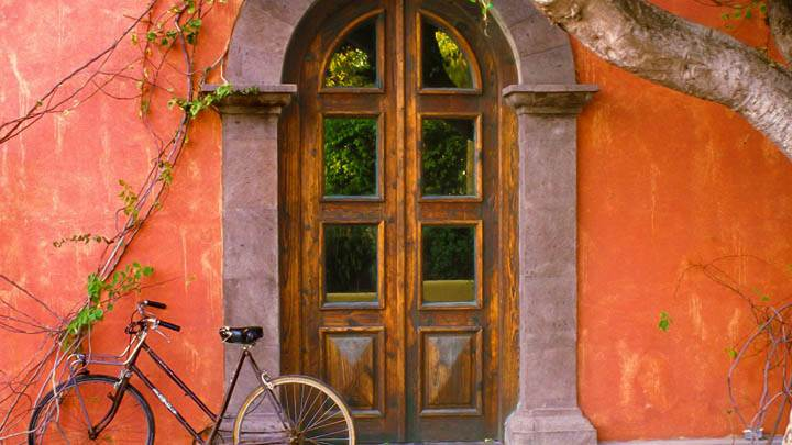 Doorway and Bicycle, Loreto, Mexico