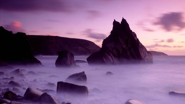 Dusk, Cligga Point, Cornwall, England