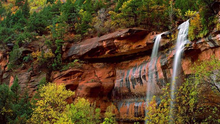 Emerald Pools Waterfall, Zion National Park, Utah