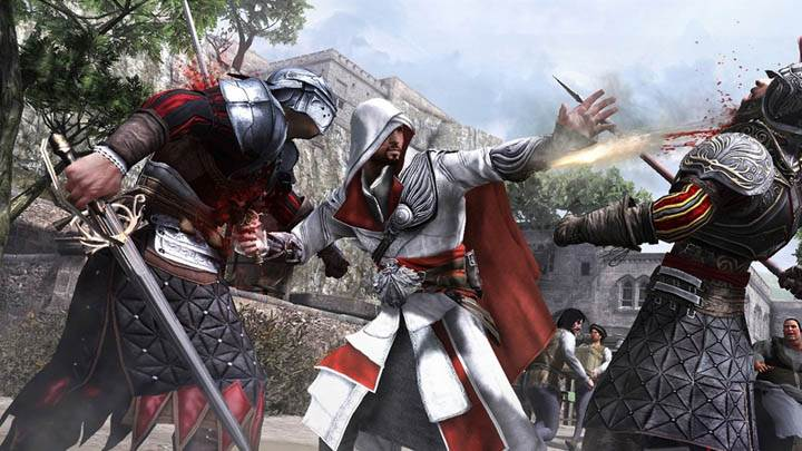 Ezio Attacking
