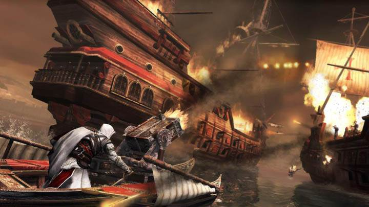 Ezio Firing On Ships