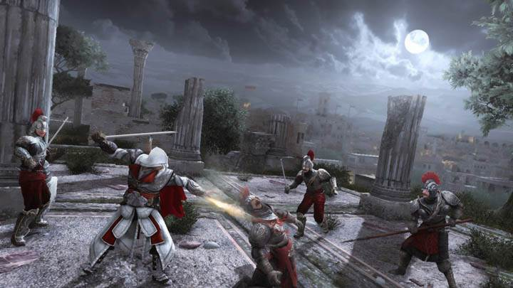 Ezio Shooting With Gun Blade