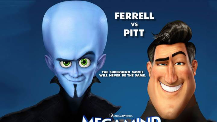 Ferrel Vs Pitt in Megamind