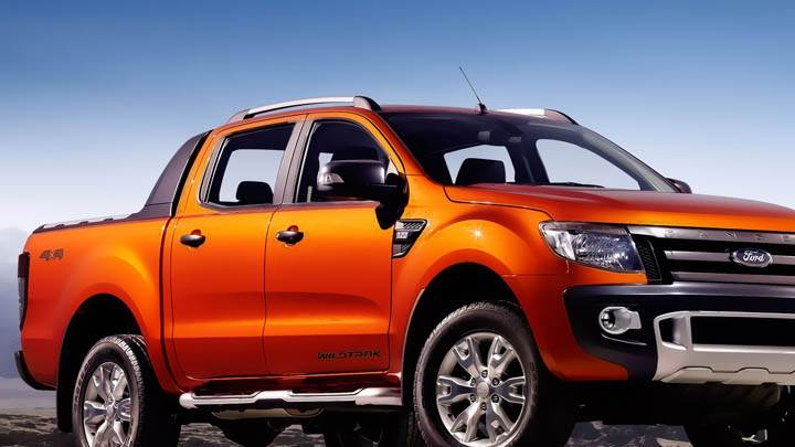 Ford Ranger Wildtrak Orange Color Front