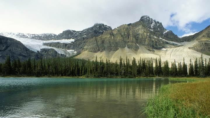 Glacial Lake, Rocky Mountains, Alberta, Canada