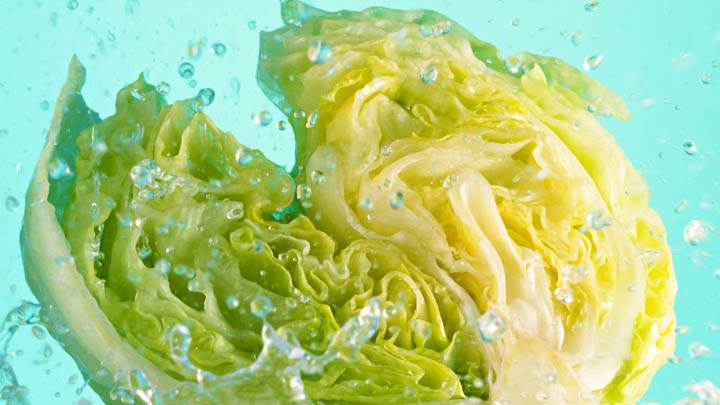 Half Cabbage In Water