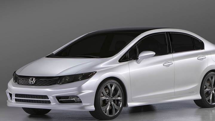 Honda Civic White Color