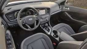 Kia Optima Hybrid Interior and Dashboard