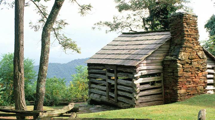 Log Cabin, Blue Ridge Parkway, Virginia
