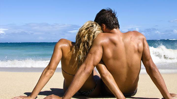 Loving Couple Near Beach