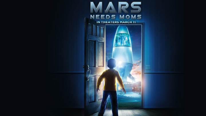 Mars Needs Moms Movie Cover Poster