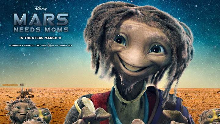 Mars Needs Moms – Smiling