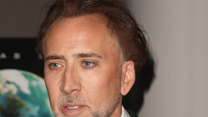 Nicolas Cage At Event Face Closeup