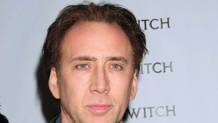 Nicolas Cage Face Closeup On Event